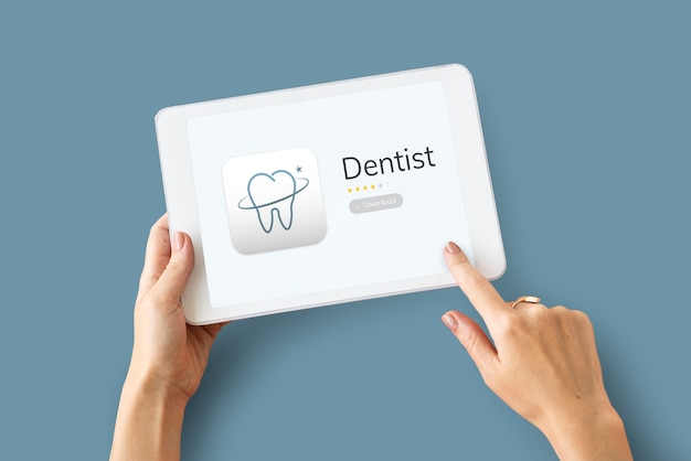 Illustration de l'application de soins dentaires
