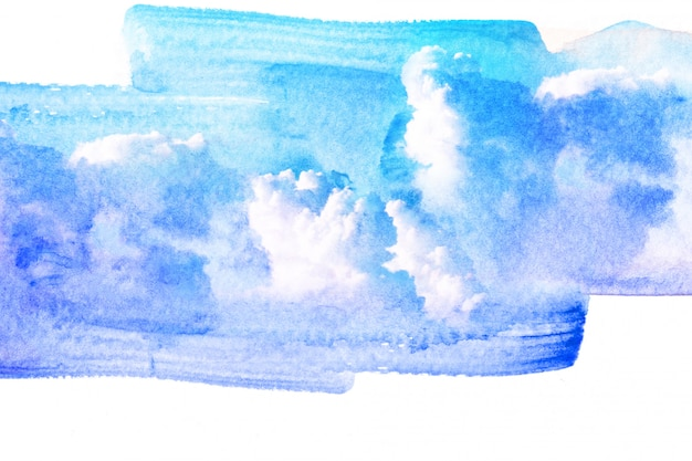 Illustration aquarelle de nuage.