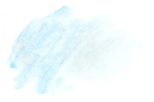 Illustration aquarelle sous la forme d'un coup de couleur humide, laissant dans la transparence