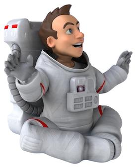Illustration de l'astronaute amusant