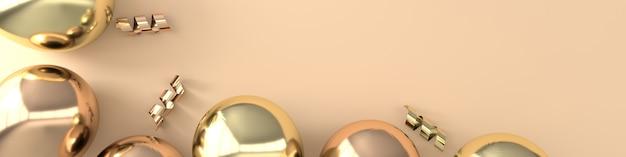 Illustration de ballons dorés brillants réalistes