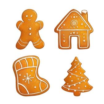 Illustration de biscuits de pain d'épice