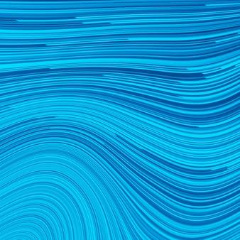Illustration bleue avec des lignes. turquoise, cobalt, ligne de vitesse marine ou abstrait de mouvement de vent. vagues d'énergie brillantes rougeoyantes sur fond bleu foncé, motif de demi-teintes numériques