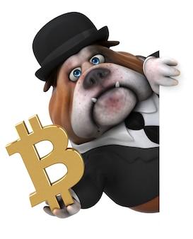 Illustration de bulldog amusant