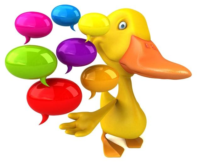 Illustration de canard amusant