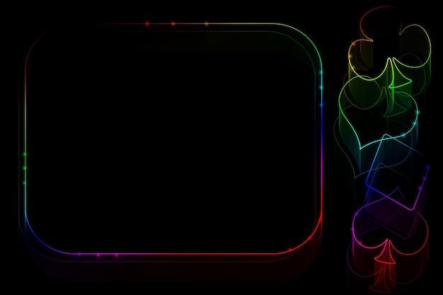 Illustration de casino fiery avec bloc de texte