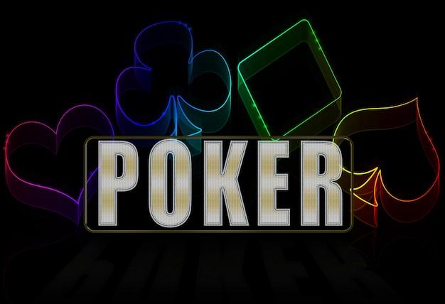 Illustration de casino sur le noir - jeu de cartes