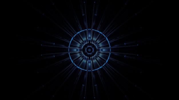 Illustration d'un cercle avec des effets de lumière néon abstraits - idéal pour un arrière-plan futuriste