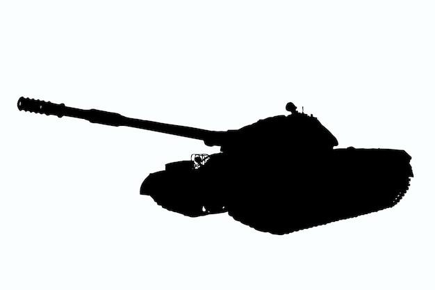 Illustration de char lourd soviétique en détail sur fond de détourage blanc. vue de côté
