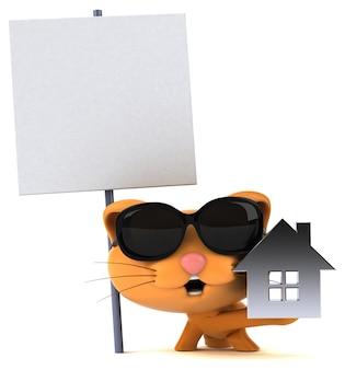 Illustration de chat amusant
