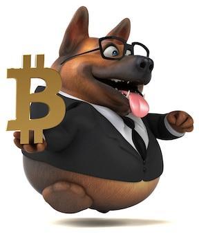 Illustration de chien amusant