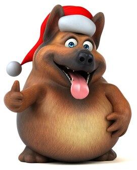 Illustration de chien de berger allemand amusant
