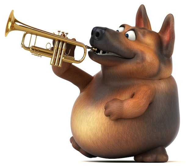 Illustration de chien de berger allemand