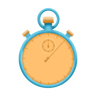 Illustration de chronomètre, équipement de minuterie sport. isolé sur fond blanc.