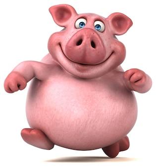 Illustration de cochon amusant
