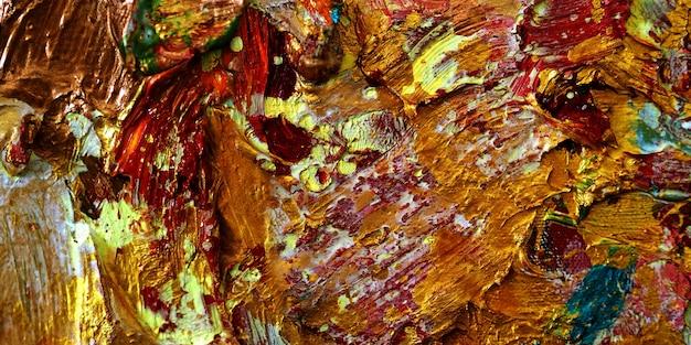 Illustration de conception de texture de fond abstrait peinture à l'huile d'or