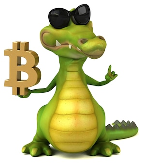 Illustration de crocodile amusant