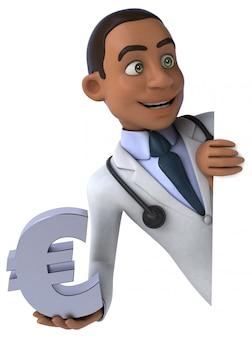 Illustration de docteur amusant