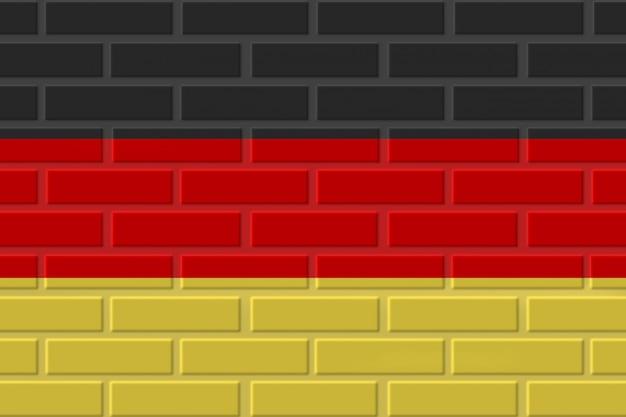 Illustration de drapeau allemagne brique