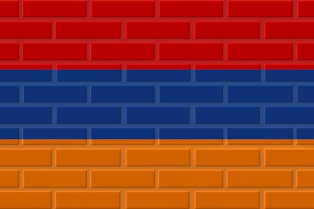 Illustration de drapeau de brique d'arménie