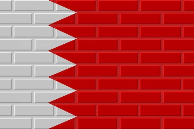 Illustration de drapeau de brique de bahreïn