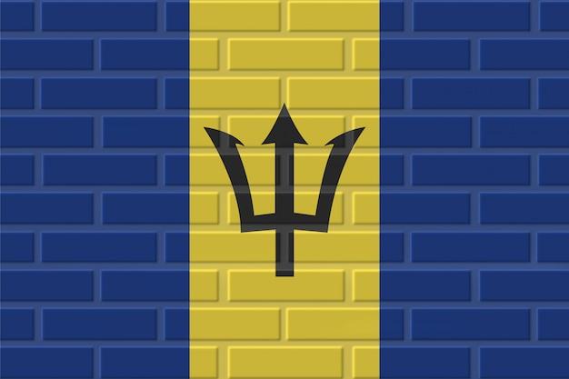 Illustration de drapeau de brique de la barbade
