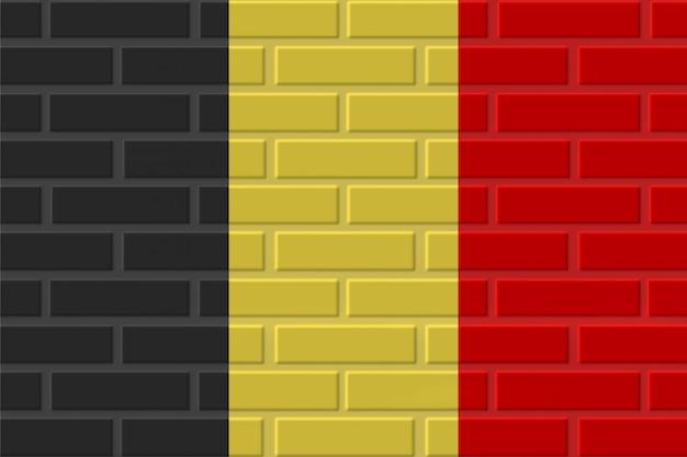 Illustration de drapeau de brique de belgique