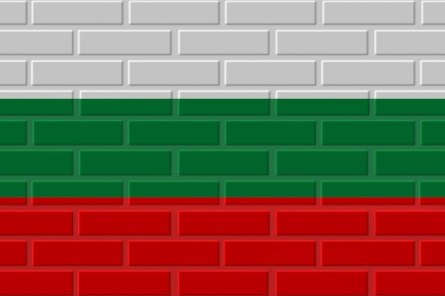 Illustration de drapeau de brique de bulgarie
