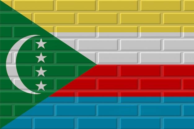 Illustration de drapeau de brique des comores
