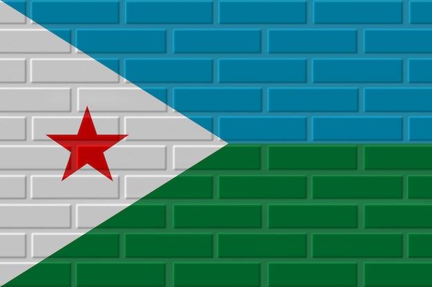 Illustration de drapeau de brique de djibouti