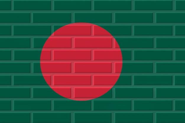 Illustration de drapeau de brique du bangladesh