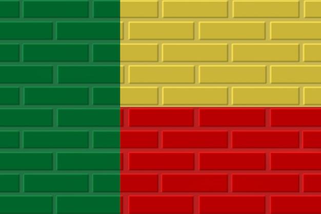Illustration de drapeau de brique du bénin