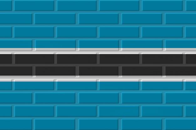 Illustration de drapeau de brique du botswana