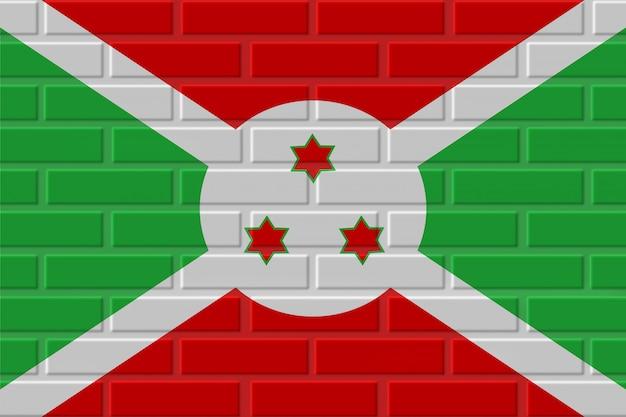 Illustration de drapeau de brique du burundi
