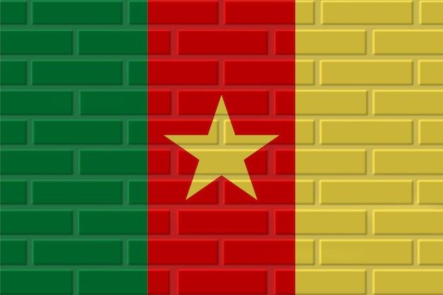 Illustration de drapeau de brique du cameroun