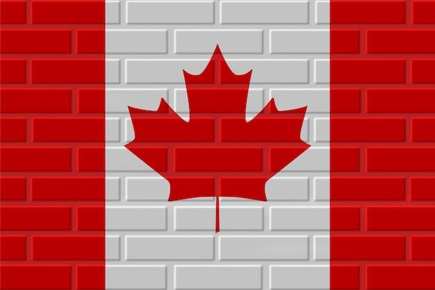 Illustration de drapeau de brique du canada