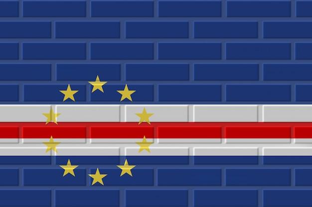 Illustration de drapeau de brique du cap-vert