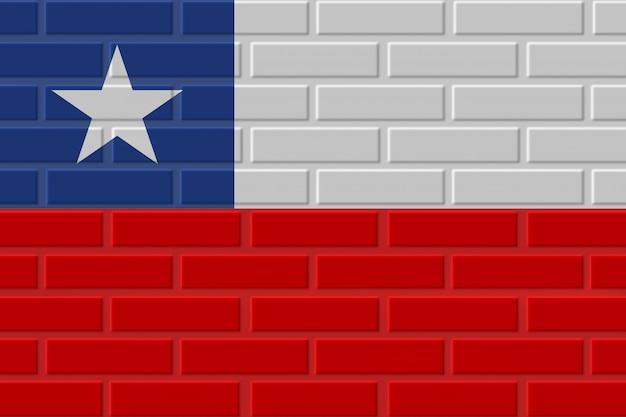 Illustration de drapeau de brique du chili
