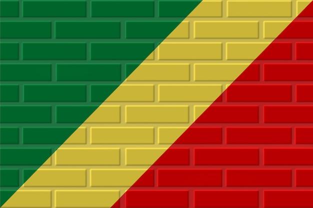 Illustration de drapeau de brique du congo