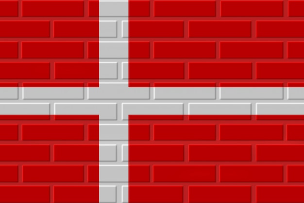 Illustration de drapeau de brique du danemark