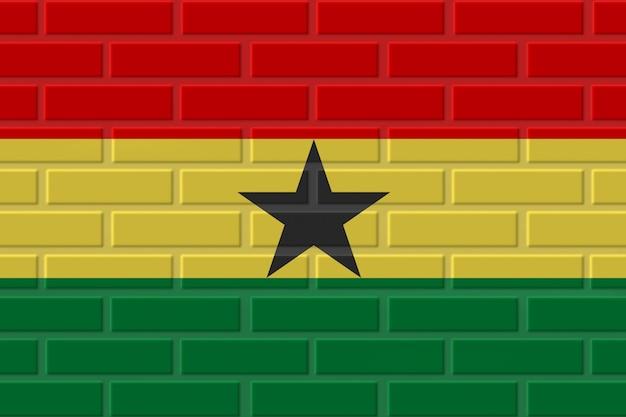 Illustration de drapeau de brique du ghana