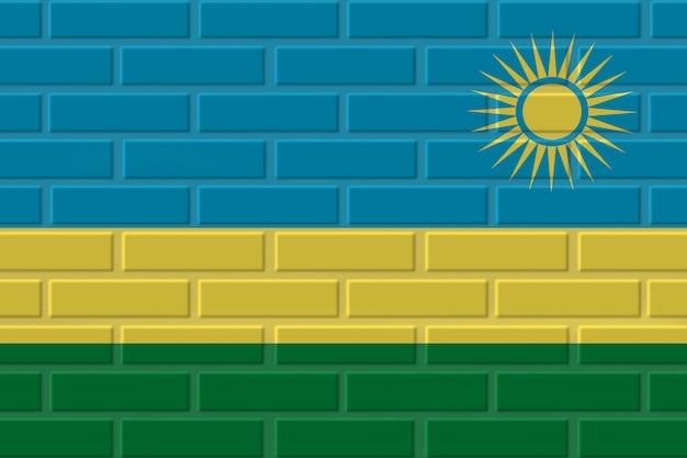Illustration de drapeau de brique du rwanda