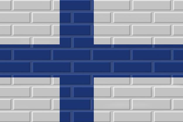 Illustration de drapeau de brique de finlande