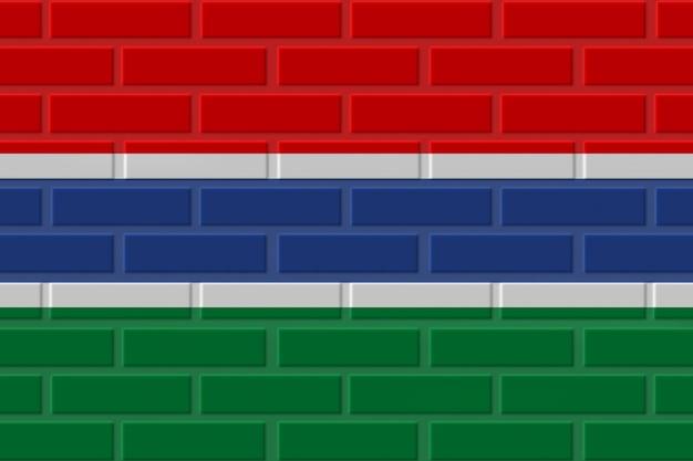 Illustration de drapeau de brique de gambie