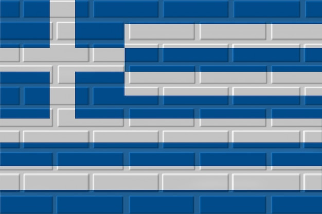Illustration de drapeau de brique de grèce