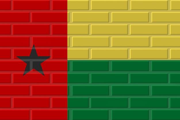 Illustration de drapeau de brique de guinée-bissau