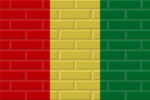 Illustration de drapeau de brique de guinée