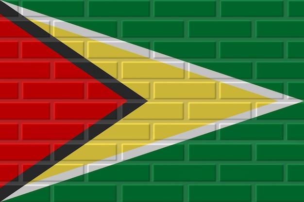 Illustration de drapeau de brique de guyane