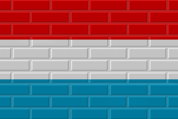 Illustration de drapeau de brique de luxembourg