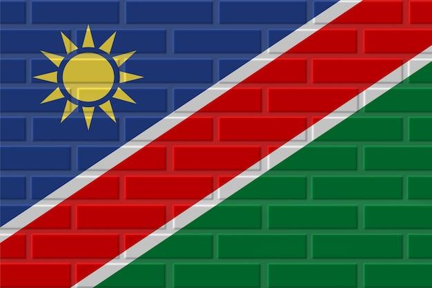 Illustration de drapeau de brique de namibie